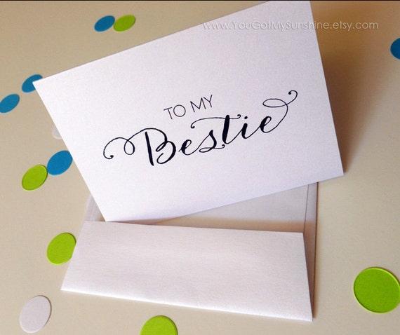 Wedding Thank you Card To my Bestie Best by YouGotMySunshine