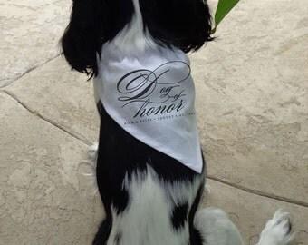 Script Script Bridal Dog of Honor Bandana - 32A