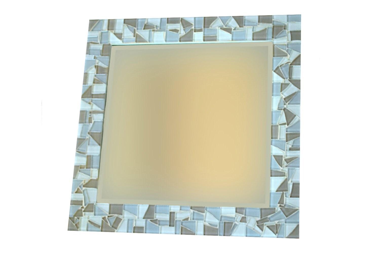 mosaic wall mirror square mirror wall art beach decor. Black Bedroom Furniture Sets. Home Design Ideas