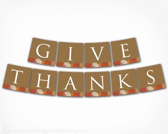 Eloquent image within give thanks banner printable