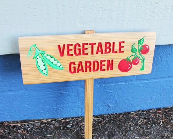 Vegetable Garden Sign Personalized Garden Sign Sweet Peas