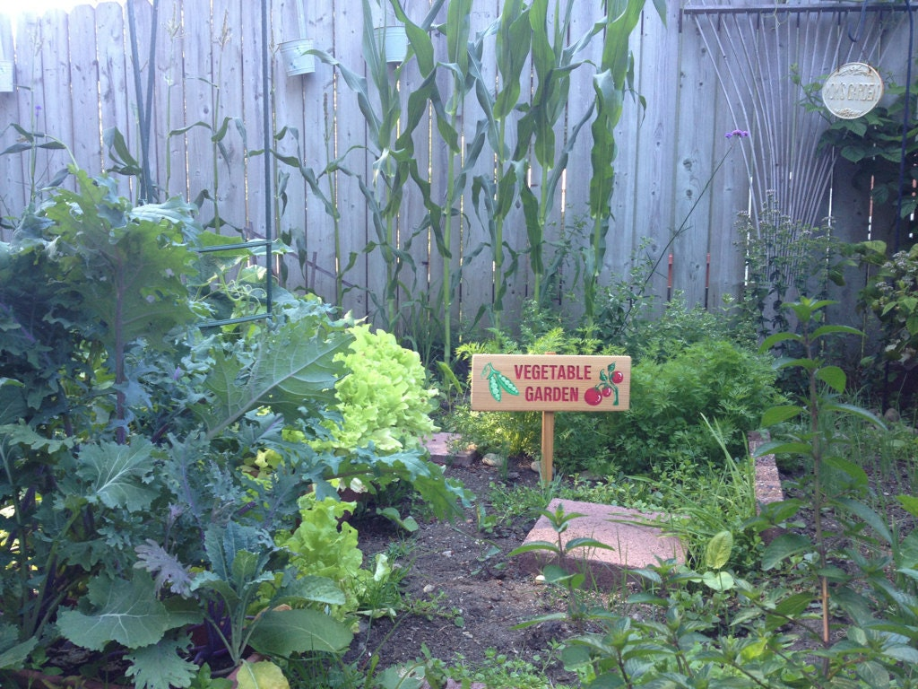 Vegetable Garden Sign Personalized Garden Sign By