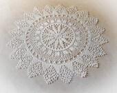 Large lace doily White elegant crochet doilies Table decoration Round crochet centerpiece Large crochet doily Crochet decoration