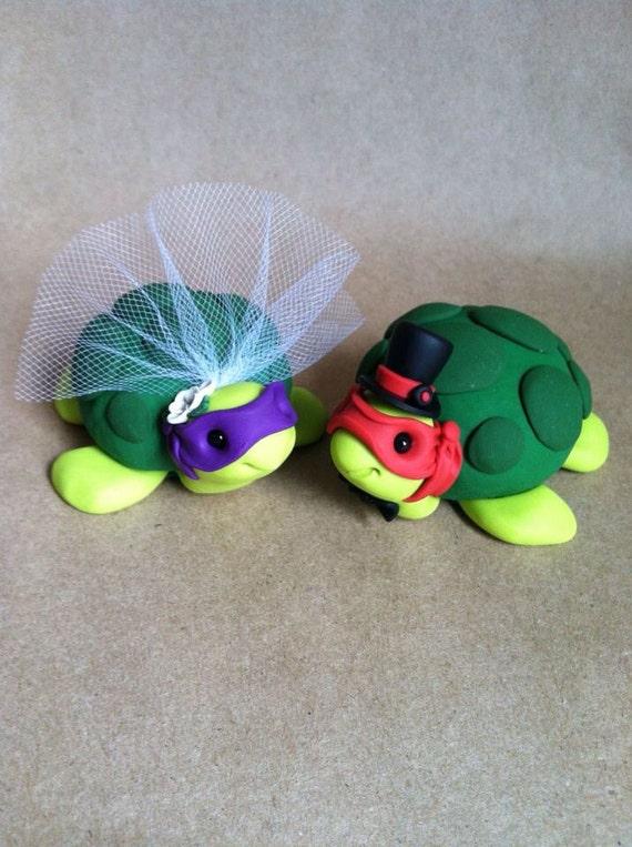 Teenage Mutant Ninja Turtles Wedding Cake Toppers