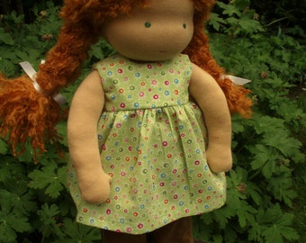 "Waldorf Doll 16"" , Red  hair, Skye ( made to order )"