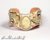 Reserved - Bead embroidered cuff