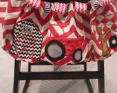Red Tractor Shopping Cart Cover