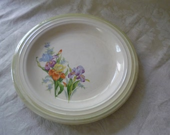 Large Floral Cake Plate
