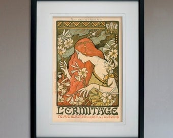"Vintage L'ermitage Hotel Reproduction Poster  - 13"" x 19"""