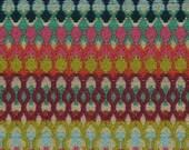 Aqua Orange Upholstery Fabric - Woven Textured Heavyweight Fabric -  Purple Green Geometric Home Decor - Fabric for Furniture Upholstery