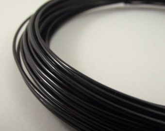 Black Aluminum Wire, Black Anodized Aluminum, 14 gauge, 45 foot coil