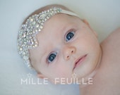 newborn crown with crystal flower design headband for baby, toddler, girl or adult, bride