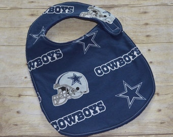 Dallas Cowboys Toddler Baby Bib for babies 12 months and over