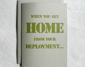 Love Card When You Get Home From Your Deployment...
