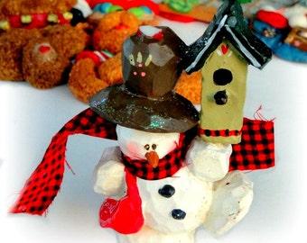 Vintage Snowman Ornament, Kurt S, Adler, Christmas Holiday Tree Decor