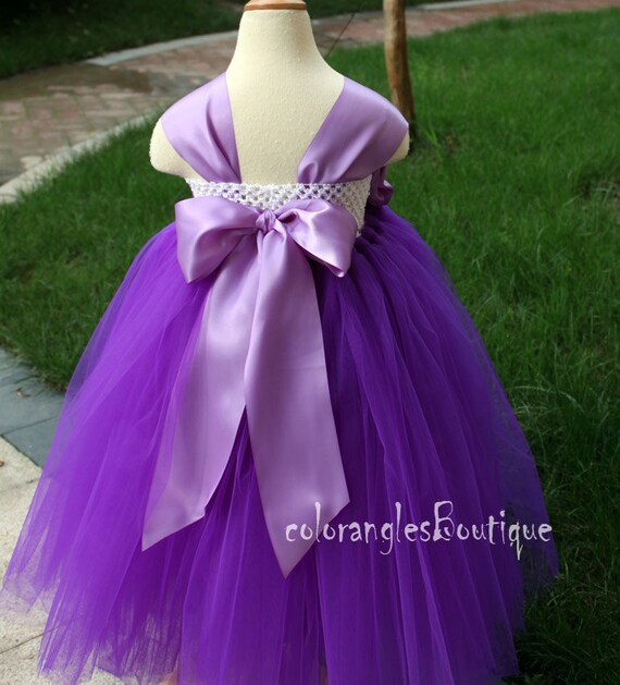 Flower Girl Dress Purple Orchid Tutu Dress By