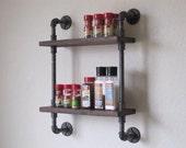 Spice Rack Pipe Shelf