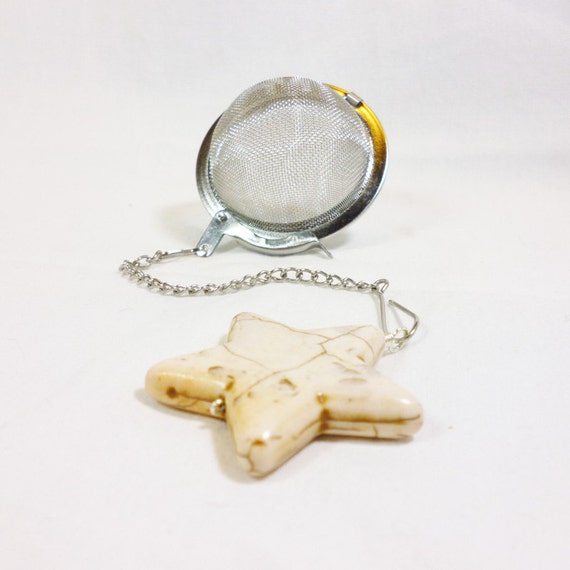 tea infuser with ivory charm by dryadtea on etsy