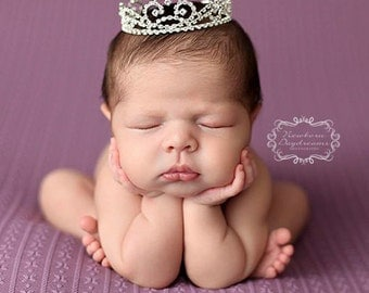 Newborn Crown, Photo Prop, crown, baby crown, photography prop, crystal crown, newborn photo prop, rhinestone crown, princess crown - Kate