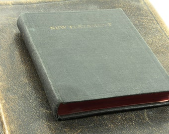 Antique Black New Testament Holy Bible - Hardbound Pocket Size