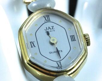 Unusual Vintage French Made 12k Gold JAZ Ladies Timepiece