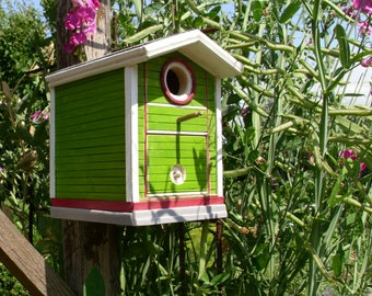 "Birds - and bird feeder ""Raspberry - Mint"""
