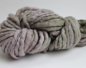Camouflage Multi  Color Hand Spun Hand Dyed Thick and Thin Chunky Wool Yarn