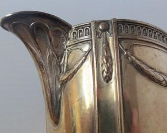 Antique Sterling Silver Creamer/Milk Jug by Wilhelm T. Binder, 105 grams, Fancy, Heirloom