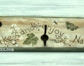 Hiking Hiker Wall Hook Hanger Furnishing Natural Rustic Woodland Decor OOAK Art Walking Stick Hanger Trekking Health and Wellness