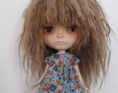 Cotton dress for Blythe , blue color