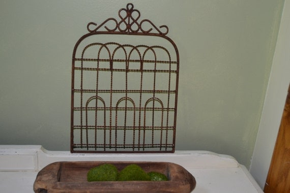 Rusty Metal Small Garden Gate Wall Hanging Home Or By