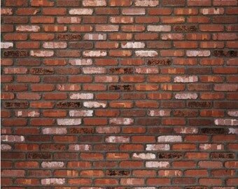 Rich Brick - Exclusive to Bubblegum Backdrops - Vinyl Photography Backdrop Floordrop Prop