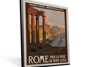 Vintage Travel Poster Rome on 8x12 PopMount Ready to Hang FREE SHIPPING