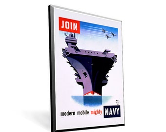 Vintage Navy Recruitment Poster 8x11.5 PopMount Ready to Hang FREE SHIPPING
