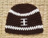 Football Hat, Crochet Football Hat, Football Beanie, Newborn Football Hat, Football Baby, Football Baby Boy, Football Baby Girl, Photo Props