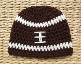 Football Hat, Crochet Football Hat, Newborn Football Hat, Football Baby, Football Baby Boy, Football Baby Girl, Mens Hats, Photo Props