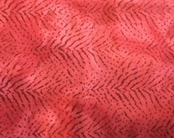 Fat Quarter Flannel - shrimp pink skin print