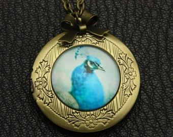 Necklace locket peacock 2020m