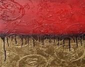 SF 49ers Textured Logo FIne Art