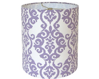 Lamp Shade Lampshade Pendant Luminary by Waverly Lilac Made to Order