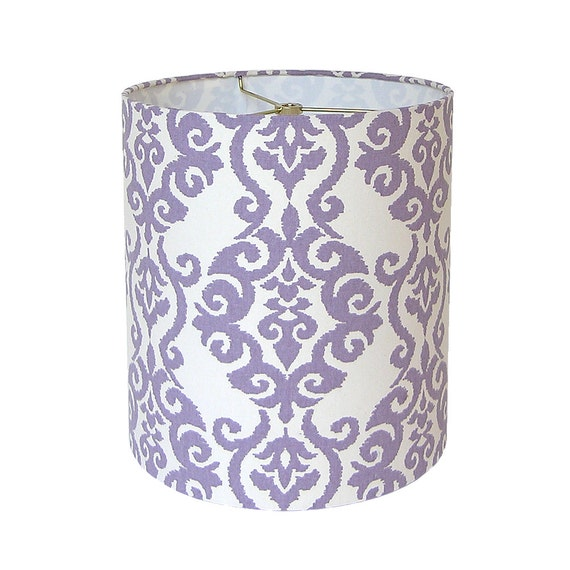 Lamp Shade Lampshade Pendant Luminary By Waverly Lilac Made To