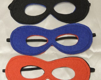 Superhero felt masks
