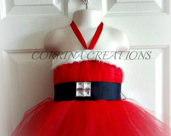 Santa Baby Tutu Dress, Christmas Boutique Style, Pageant Wear, OOC, Size NB, 3, 6, 9, 12, 18 , 24 months, 2, 3, 4, 5T,6,7,8,10