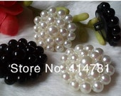 SALE 42 pieces 25mm Black Pearl Shank Buttons Free Shipping