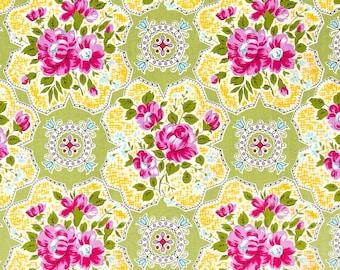 Circa Austin Green  - 1 YARD - Jennifer Paganelli Sis Boom - Free Spirit  -   Fabric no. PWJP073.Green