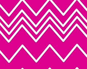 LAST YARD Pink Zig Zag - Pink white Chevron from French Bull Ziggy  -  by Jackie Shapiro - Windham Fabrics - Baum Textiles