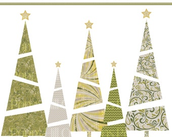 INSTANT DOWNLOAD - Printable Fancy Tree Digital Clip Art - For Commercial or Personal Use - Digital Design