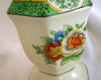 Hand Painted Muffineer Syrup Pitcher -Signed NORITAKE Made in Japan - Vintage Circa 1940 - 1950s