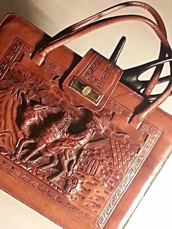 Vintage Purse Hand Carved 1970 S Mexican By Outoftheboxvintage