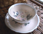 Vintage Paragon by Appointment  H.M. The Queen & H.M.Queen Mary English Fine Bone China Tea Cup Saucer set